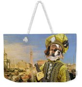 Tibetan Spaniel Art Canvas Print Weekender Tote Bag