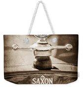 1915 Saxon Roadster Hood Ornament Weekender Tote Bag