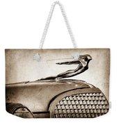 1937 Cadillac V8 Hood Ornament Weekender Tote Bag