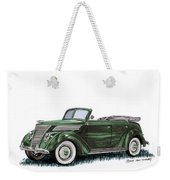 1937 Ford 4 Door Convertible Weekender Tote Bag