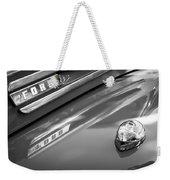 1949 Ford F-1 Pickup Truck Emblem -0027bw Weekender Tote Bag