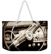 1951 Chevrolet Convertible Steering Wheel Weekender Tote Bag