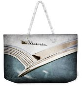 1956 Ford Crown Victoria Glass Top Emblem Weekender Tote Bag