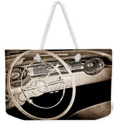 1956 Oldsmobile Starfire 98 Steering Wheel And Dashboard Weekender Tote Bag