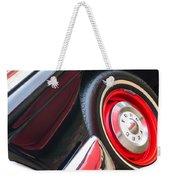 1957 Ford Fairlane Convertible Wheel Emblem Weekender Tote Bag