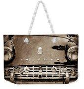 1960 Triumph Tr 3 Grille Emblems Weekender Tote Bag