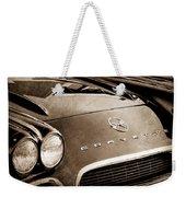 1962 Chevrolet Corvette Hood Emblems Weekender Tote Bag