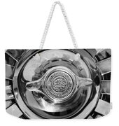 1962 Ghia L6.4 Coupe Wheel Emblem -2169bw Weekender Tote Bag