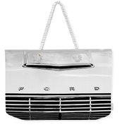 1963 Ford Falcon Futura Convertible  Hood Emblem Weekender Tote Bag by Jill Reger