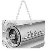 1963 Ford Falcon Futura Convertible Taillight Emblem Weekender Tote Bag