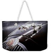 1964 Jaguar Mk2 Saloon Hood Ornament And Emblem Weekender Tote Bag