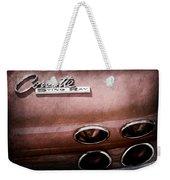 1965 Chevrolet Corvette Taillight Emblem Weekender Tote Bag