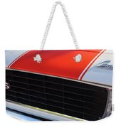 96 Inch Panoramic -1969 Chevrolet Camaro Rs-ss Indy Pace Car Replica Grille - Hood Emblems Weekender Tote Bag by Jill Reger
