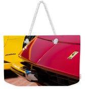 1971 Ferrari 365 Gtb-4 Daytona Spyder Hood Emblem Weekender Tote Bag