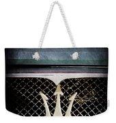 1972 Maserati Ghibli Grille - Hood Emblems Weekender Tote Bag