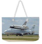 747 Carrying Space Shuttle Weekender Tote Bag