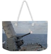 A Close-in Weapons System Is Fired Weekender Tote Bag