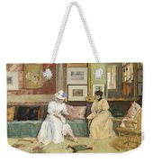 A Friendly Call Weekender Tote Bag by William Merritt Chase