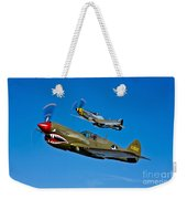 A P-40e Warhawk And A P-51d Mustang Weekender Tote Bag