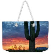 A Saguaro Sunset  Weekender Tote Bag