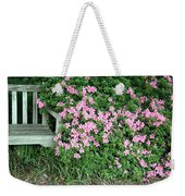 A Seat By The Flowers Weekender Tote Bag