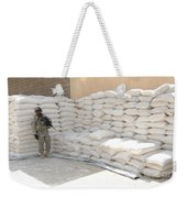 A U.s. Soldier Provides Security Weekender Tote Bag