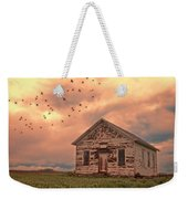 Abandoned Building In A Storm Weekender Tote Bag