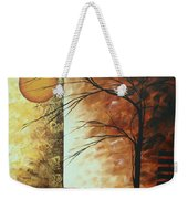 Abstract Gold Textured Landscape Painting By Madart Weekender Tote Bag