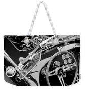 Ac Shelby Cobra Engine - Steering Wheel Weekender Tote Bag