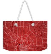 Adelaide Street Map - Adelaide Australia Road Map Art On Colored Weekender Tote Bag