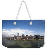 2-aerial View Of Manhattan Weekender Tote Bag