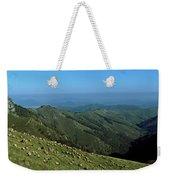 Aerial View Of Mountain Range Weekender Tote Bag