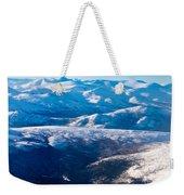 Aerial View Of Snowcapped Peaks In Bc Canada Weekender Tote Bag