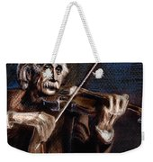 Albert Einstein And Violin Weekender Tote Bag