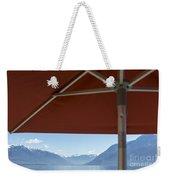 Alpine Lake With Parasol Weekender Tote Bag