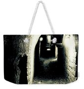 Altered Image Of A Tunnel In The Catacombs Of Paris France Weekender Tote Bag