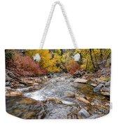 American Fork Canyon Creek In Autumn - Utah Weekender Tote Bag