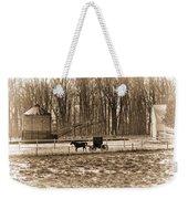 Amish Buggy And Corn Crib Weekender Tote Bag