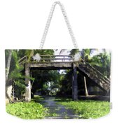 An Old Stone Bridge Over A Canal Weekender Tote Bag