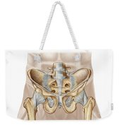 Anatomy Of Human Pelvic Bone Weekender Tote Bag