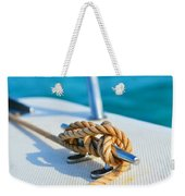 Anchor Line Weekender Tote Bag by Laura Fasulo