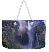 Angel Falls In Canaima National Park Venezuela Weekender Tote Bag