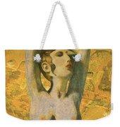Aphrodite And Cyprus Map Weekender Tote Bag