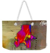 Atlanta Map Watercolor Weekender Tote Bag