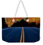 Autumn Colors And Road  Weekender Tote Bag