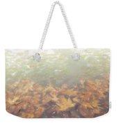 Autumn Leaves Floating In The Fog Weekender Tote Bag
