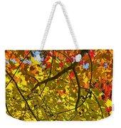 Autumn Maple Leaves Weekender Tote Bag