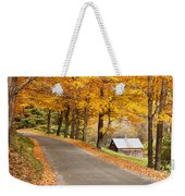 Autumn Road Weekender Tote Bag by Brian Jannsen