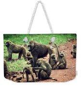 Baboons In African Bush Weekender Tote Bag