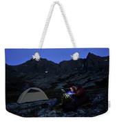 Backpacking Alaska Chugach Mountains Weekender Tote Bag